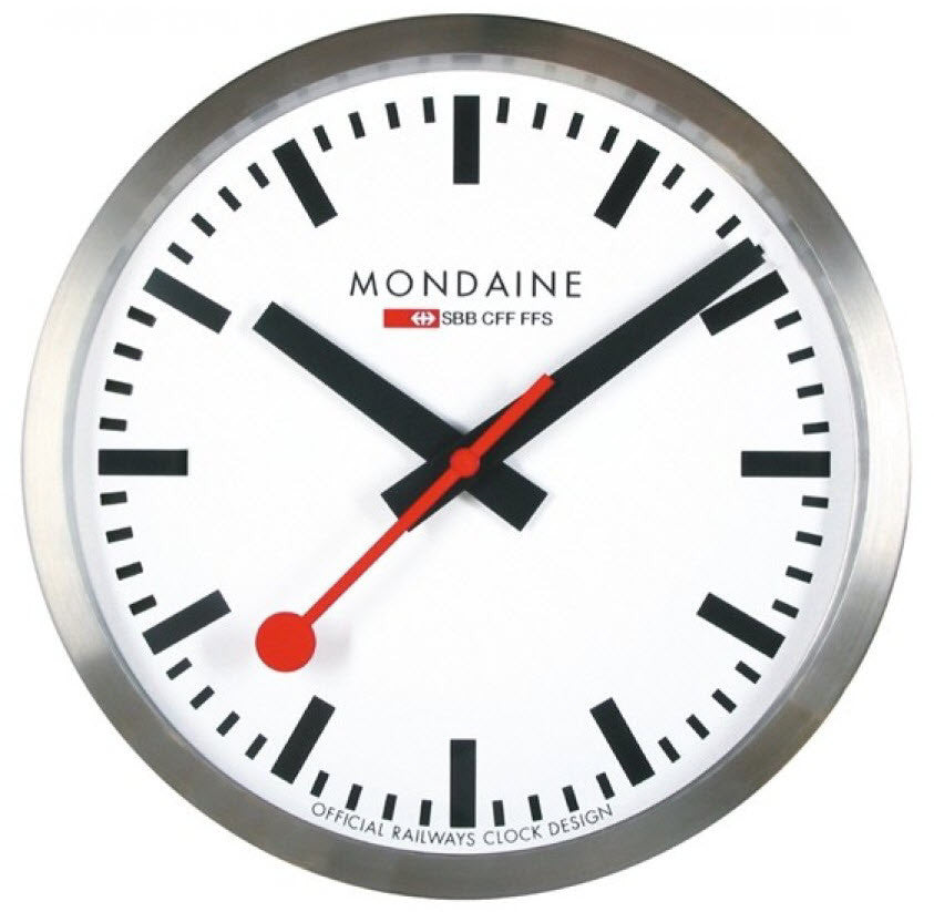 Mondaine Wall Clock Large 40cm A995 Clock 16sbb Watch