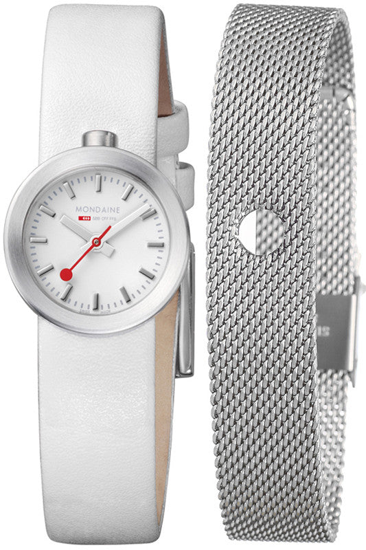 Mondaine Watch Aura White