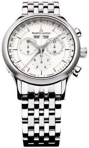 Maurice Lacroix Watch Les Classiques Round Day Date Month Chrono D