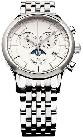 Maurice Lacroix Watch Les Classiques Round Gents Moonphase Chrono