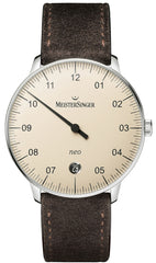 MeisterSinger Watch Neo Suede Brown