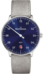 MeisterSinger Watch Neo Suede Grey