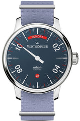 MeisterSinger Watch Urban Day Date Blue