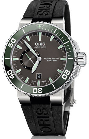 Oris Watch Aquis Small Second Date Rubber