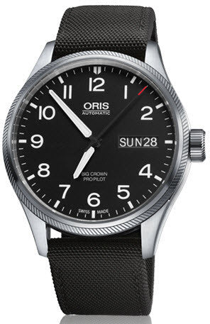 Oris Watch Big Crown ProPilot Day Date Black Textile