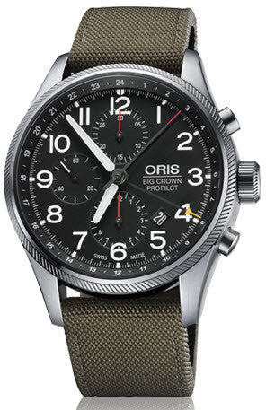 Oris Watch Big Crown ProPilot Chronograph GMT Olive Textile D