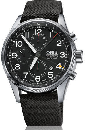 Oris Watch Big Crown ProPilot Chronograph GMT Black Textile D