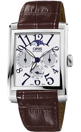 Oris Rectangular Complication Leather D