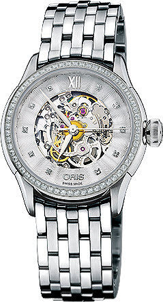 Oris Watch Culture Artelier Skeleton Diamonds D