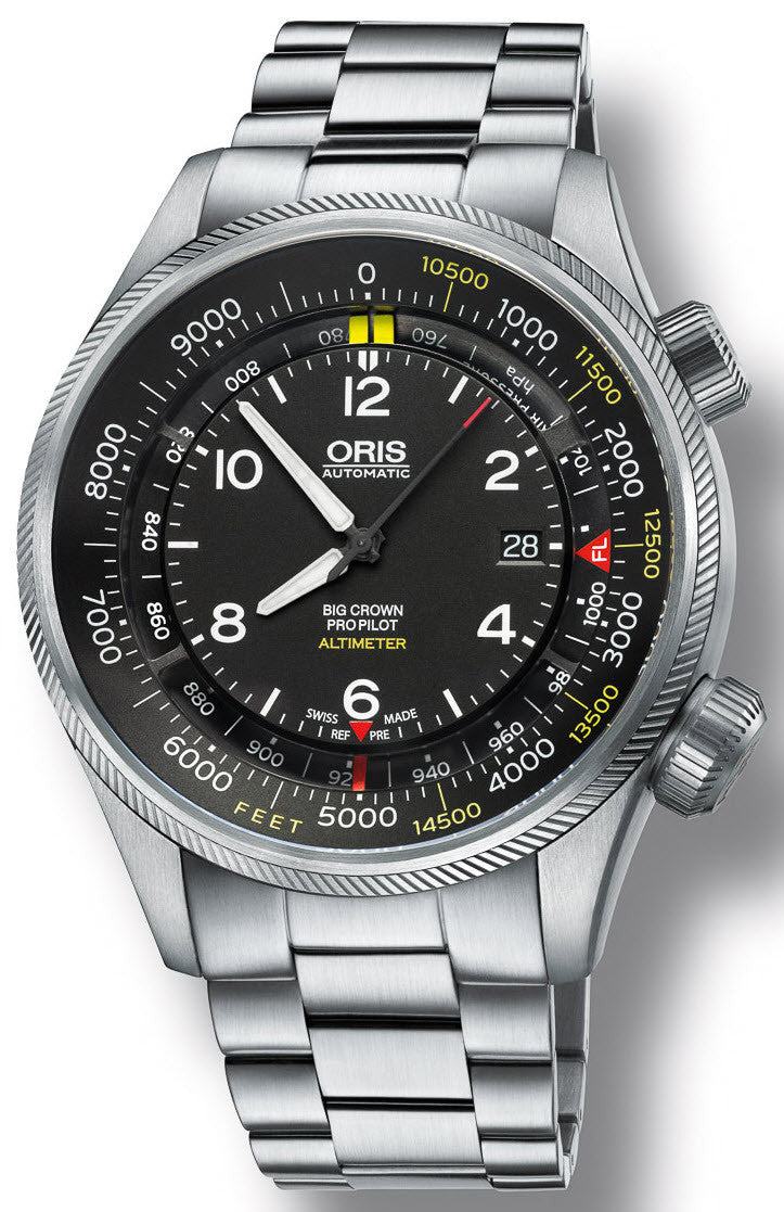 Oris Watch Big Crown ProPilot Altimeter Feet Bracelet