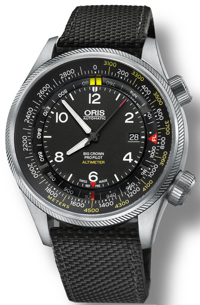 Oris Watch Big Crown ProPilot Altimeter Meters Textile Black