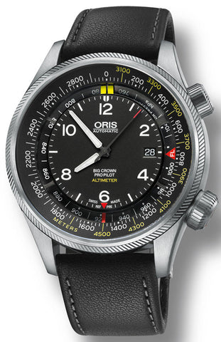 Oris Watch Big Crown ProPilot Altimeter Meters Leather