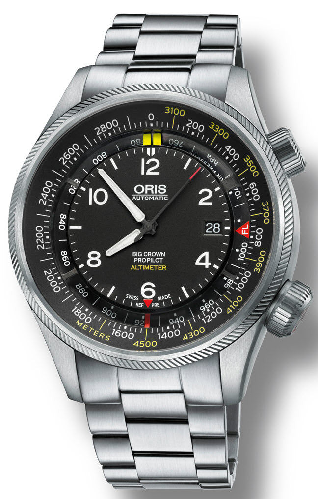 Oris Watch Big Crown ProPilot Altimeter Meters Bracelet