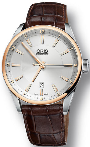 Oris Watch Artix Date Bicolor Leather