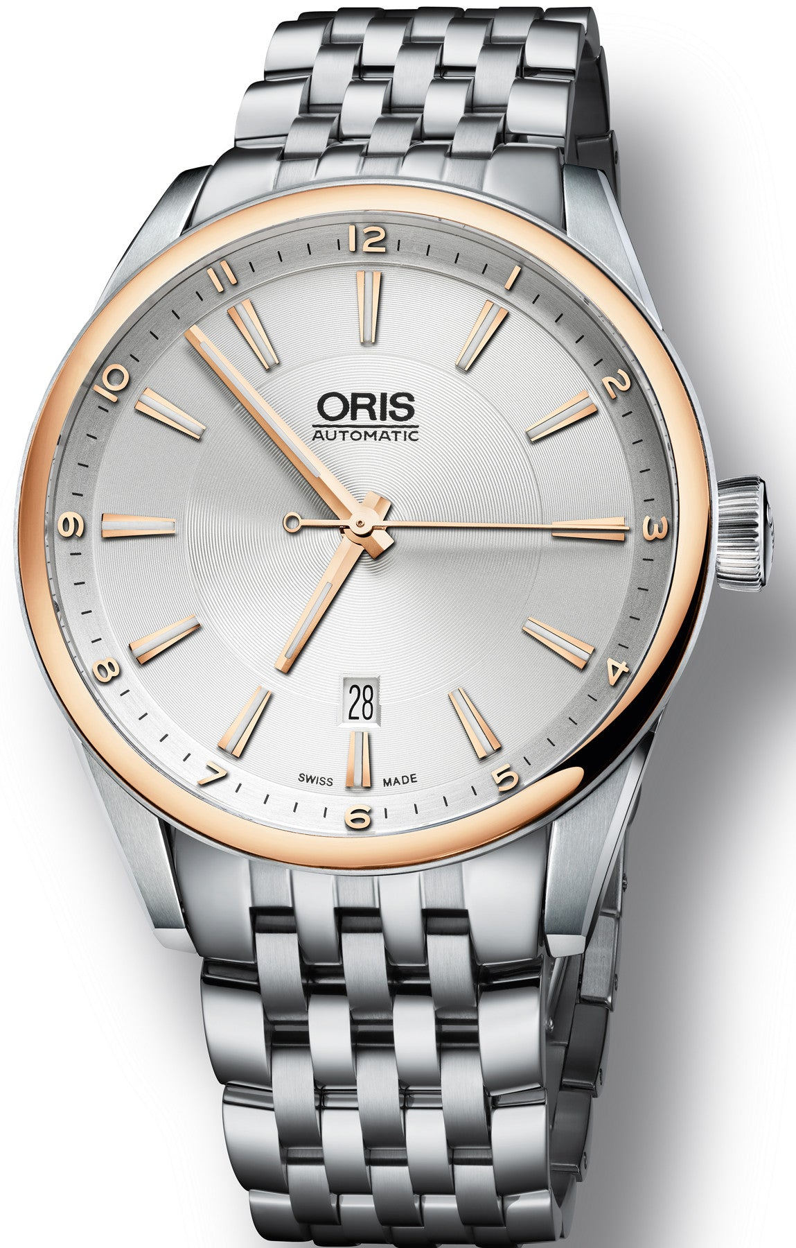 Oris Watch Artix Date Bicolor Bracelet