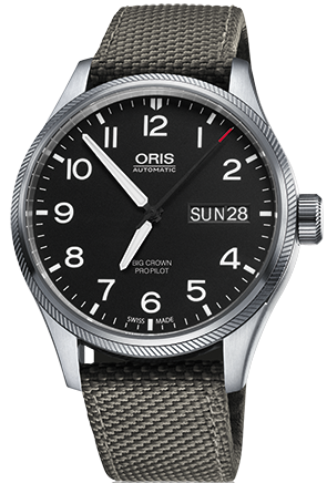 Oris Watch Big Crown ProPilot Day Date Grey Textile