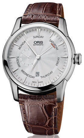 Oris Watch Artelier Small Second Pointer Day Date Leather