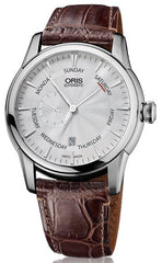 Oris Watch Artelier Small Second Pointer Day Date Crocodile