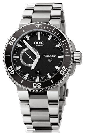 Oris Watch Aquis Titan Small Second, Date Bracelet D