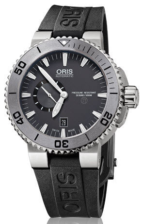 Oris Watch Aquis Titan Small Second, Date Rubber D