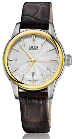 Oris Watch Artelier Lady Date Bicolor Leather