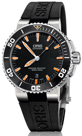 Oris Watch Aquis Date Dark Black Rubber