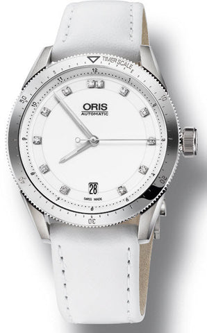 Oris Watch Artix GT Date White Ceramic Leather D