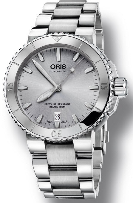 Oris Watch Aquis Date Light Grey Bracelet D