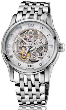 Oris Watch Artelier Skeleton Diamonds Bracelet