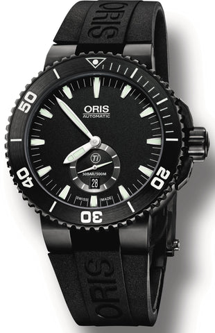 Oris Watch Aquis Date Small Second DLC Rubber