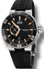 Oris Watch Aquis Date Small Second Black Rubber