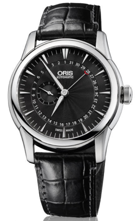 Oris Watch Artelier Pointer Date Small Second Crocodile