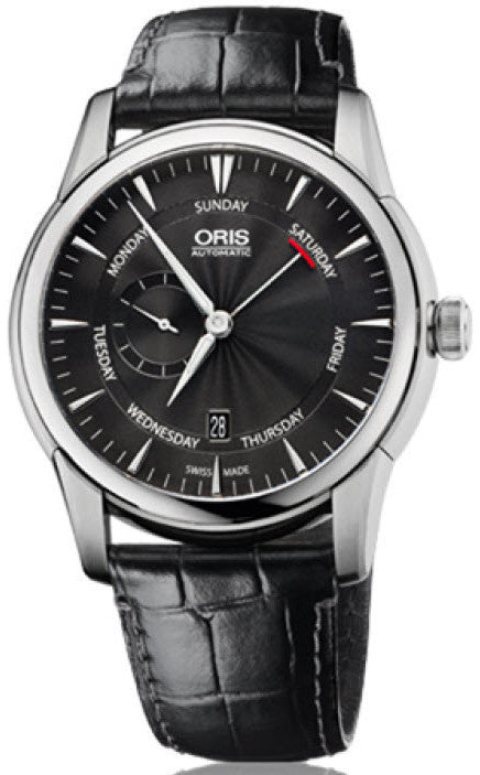 Oris Watch Artelier Pointer Day Date Small Second Leather