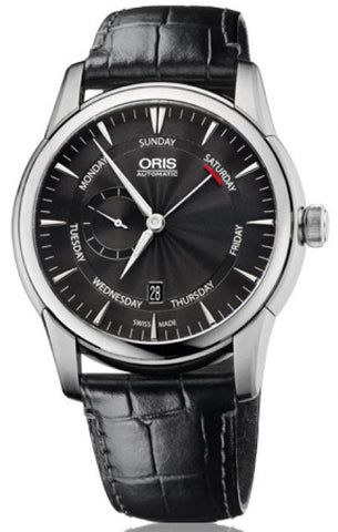 Oris Watch Artelier Pointer Day Date Small Second Crocodile