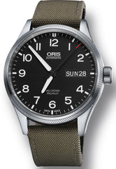 Oris Watch Big Crown ProPilot Day Date Olive Textile