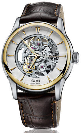 Oris Watch Artelier Skeleton Crocodile D