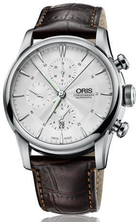 Oris Watch Artelier Chronograph Leather D