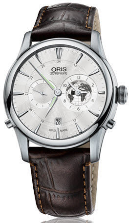 Oris Watch Artelier Greenwich Mean Time Crocodile Limited Edition