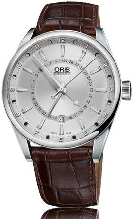 Oris Watch Artix Pointer Moon Date Leather