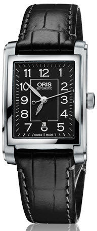 Oris Watch Rectangular Date Leather