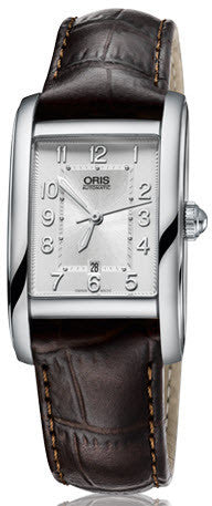 Oris Watch Rectangular Date Lady Leather