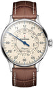 MeisterSinger Watch Pangaea Day Date PDD903 Croco Print Brown