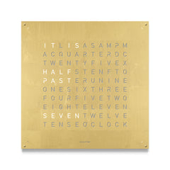 QLOCKTWO 180 Creators Edition Gold Wall Clock 180cm