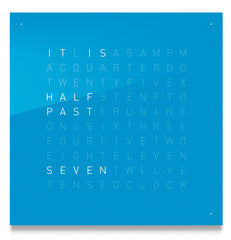 QLOCKTWO Classic Blue Candy Wall Clock 45cm