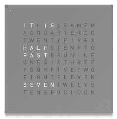 QLOCKTWO Classic Grey Pepper Wall Clock 45cm