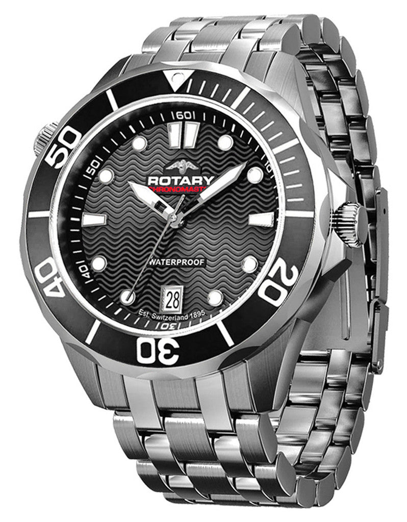 Rotary Watch Aquaspeed Gents Steel Bracelet
