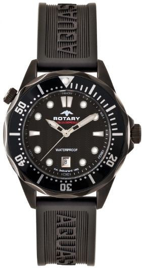 Rotary Watch Aquaspeed Gents Rubber Strap