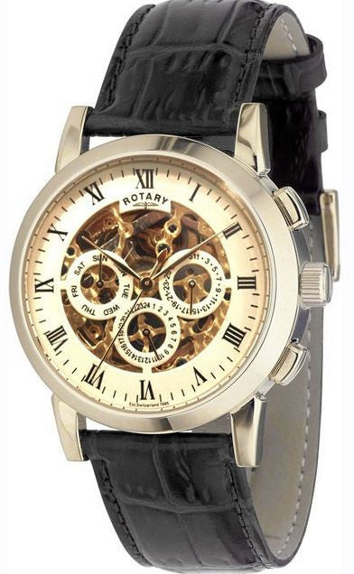 Rotary Watch Gents  Skeleton Strap