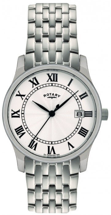 Rotary Watch Gents White