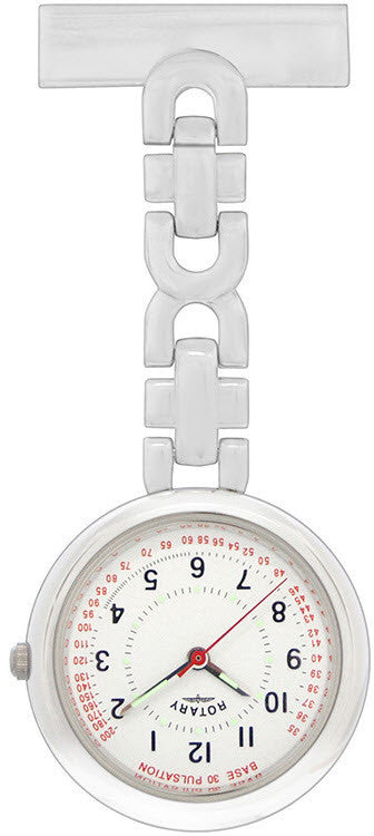Rotary Watch Nurses Fob White